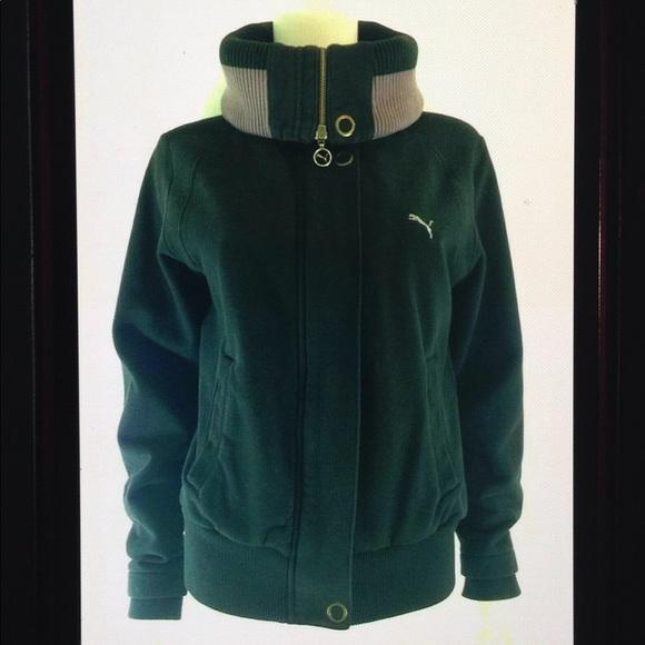 Puma Jackets & Blazers - Puma Convertible Collar Logo Sweatshirt Jacket